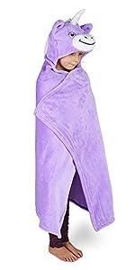 Kids Huggable Hooded Blanket Manta