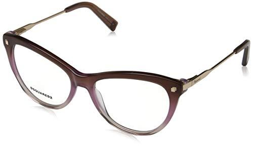 Dsquared2 Damen Dq5195 Brillengestelle, Braun (MARRONE SCURO/ALTRO), 54