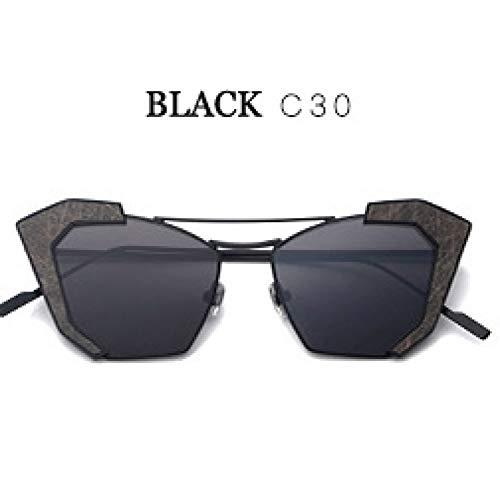 ZRTYJ Sonnenbrillen Hd Erhöhen Perspektive Objektiv Sonnenbrillen Für Frauen Vintage Cat Eye Designer Edelstahl Spiegel Gläser