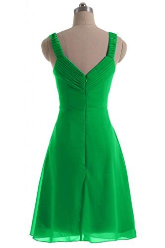 Sunvary semplice abito A-Line, in Chiffon Prom Dress-Costume da damigella d'onore per feste Verde