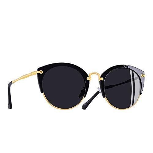GFF Mode polarisierte Sonnenbrille Frauen Vintage Retro cat Eye Sonnenbrille weiblichen halben Rahmen Stil Brille a121