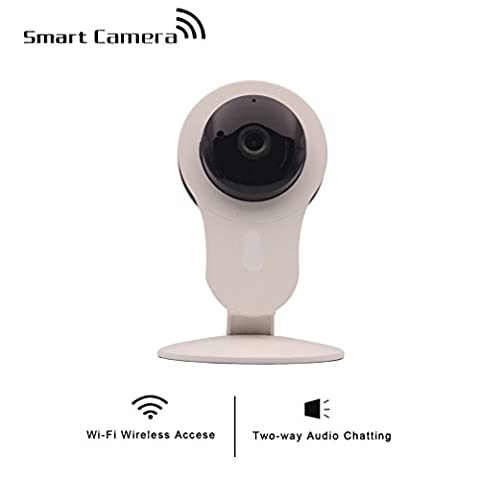 shengyaohul Full HD 720P IP Überwachungskameras, Indoor White Cam Monitoring-System Wireless IP Kamera with Access Tor/Werte/Alarm-System (Farbe Cam Home Monitoring)