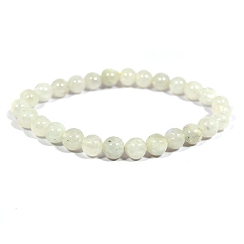 Rainbow Moonstone Crystal Stone 8mm Bracelet Reiki Chakra Healing Stone For Unisex
