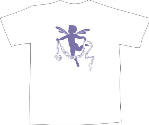 T-Shirt F1087 Schönes T-Shirt mit farbigem Brustaufdruck - Engelchen Schwarz
