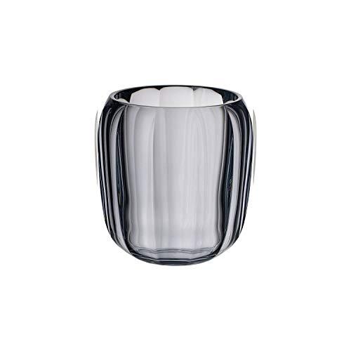Villeroy & Boch Coloured DeLight Windlicht Cosy Grey, 15,5 cm, Kristallglas, Klar/Grau