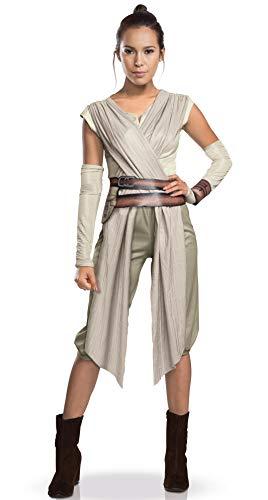 Costume rey donna vestito ragazza star wars l 48/50 - travestimento carnevale jedi per donne mascheramento guerre stellari ragazze abito di carnevale fantascienza completo larp