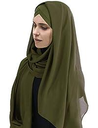 ab953a9b3f27 Hijab Foulard à Enfiler avec bonnet intégré pour femme musulmane voilée  châle ...
