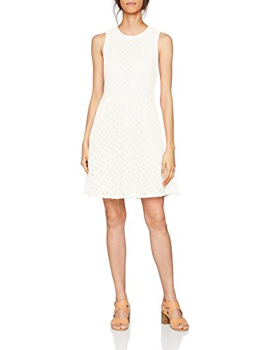 VERO MODA Damen Kleid Vmsimone Lace S/L Short Dress Noos, Weiß (Snow White Snow White), 38...
