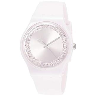 Swatch Reloj Analógico para Mujer de Cuarzo con Correa en Silicona SUOP110
