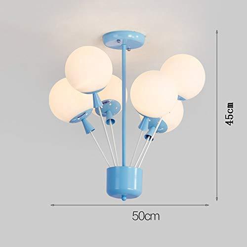 IG Wohnzimmer Schlafzimmer Korridor Beleuchtung, Haushalt Deckenleuchte Flush Mount Licht amerikanischen Stil Kinder 'S Zimmer kreative Ballon Glas Lampenschirm Eisen Kronleuchter Schlafzimmer Wohn -