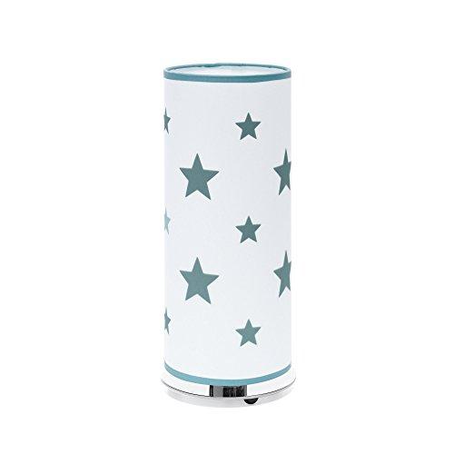 Alondra Notte Lámpara Estrellas de Sobremesa para Bebé E27, 20 W, Verde Agua, 14 x 35 cm