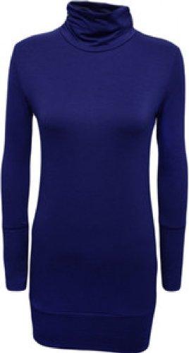 Neue Damen Plus Größe Long Sleeve Polo Neck Tops Turtle Neck Slouch Tops Mehrfarbig - Königsblau