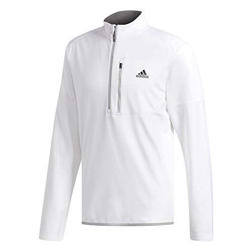 Adidas 1/4 Zip (adidas Herren Climawarm Gridded 1/4 Zip Layer Top Pullover Kinder Weiß (Blanco Cz8221) Large)