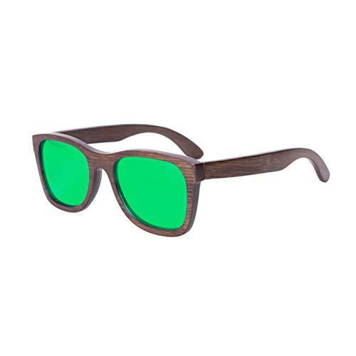 Zbertx Neue Frauen Designer Männer Polarisierte Brillen Oculos Hot Reading Holz Damen Sonnenbrille,Grün
