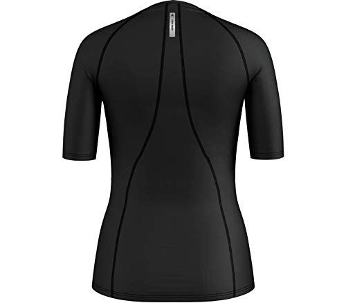 3/4 Sleeve Wool Pullover (Odlo Damen Shirt 3/4 Sleeve v-Neck Pure Wool, Black, S)