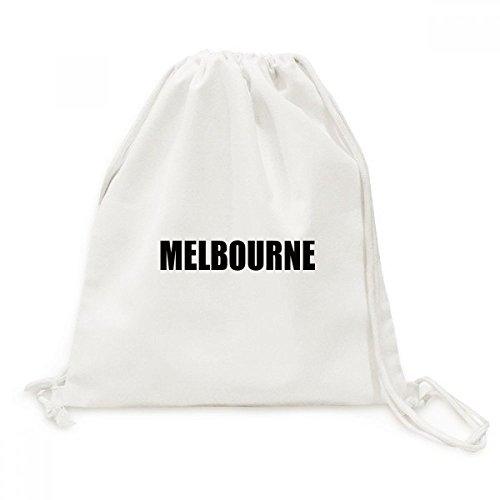 DIYthinker Nombre viaje Melbourne Australia Ciudad de lona morral del lazo bolsas de la compra