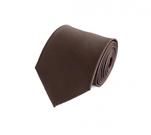 Fabio Farini klassische braune unifarbene 8 cm Krawatte, Anzug, Buisness, Hochzeit (Designer-anzug Braune)