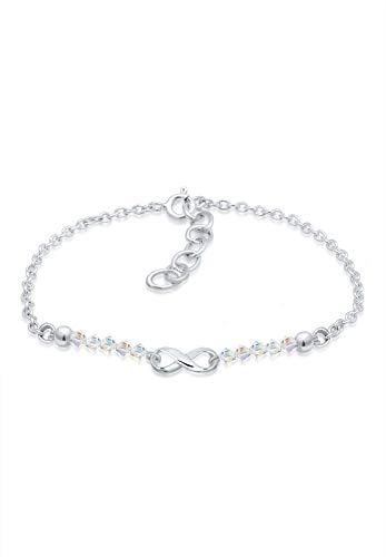 Elli Damen-Armband Infinity Swarovskikugel 925 Silber Kristall weiß 16 cm - 0204881817_16