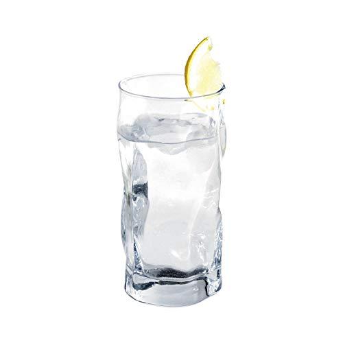 Bormioli Rocco 340360 Sorgente Longdrinkglas, 450 ml, Glas, transparent, 6 Stück