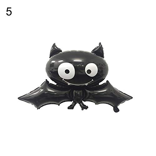 yunnuopromi Halloween Folie Ballons, Fledermaus Totenkopf Kürbis Spider Festival Bar Party Home Decor 5#