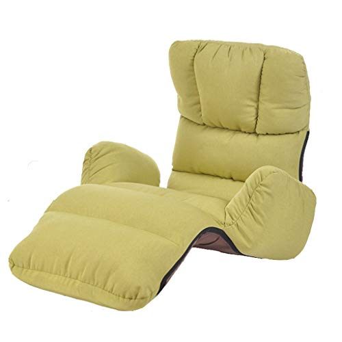 Lazy Sofa, Liegen Sofa Klappstuhl, Multi-funktionale Lazy Sofa, Simple Modern Lazy Sofa, Schlafsessel Sessel, Freizeit Sofa Stuhl (Farbe : Green)