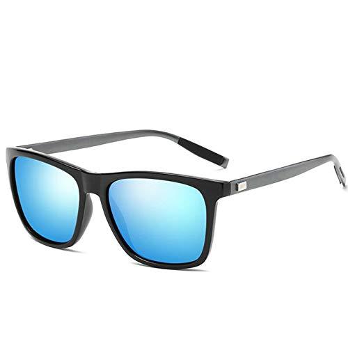 YKDDGG Mode-Accessoires Sonnenbrillen Klassische Polarisierte Sonnenbrille Männer Driving Square Schwarz Rahmen Brillen Männlichen Sonnenbrille Für Männer Polarisierte A2
