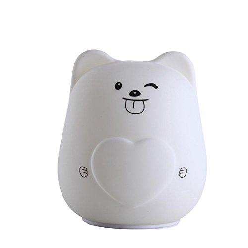 DOLDOA Lovely Cute Smile Gesicht Nachtlicht Kinder Schlafzimmer Dekor Mini LED Lampe Birne (D)