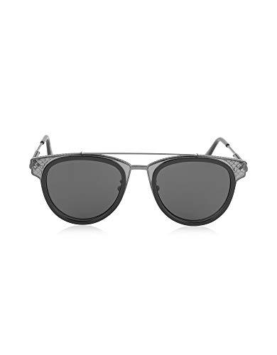 Bottega Veneta Herren Bv0123s001 Schwarz Metall Sonnenbrille