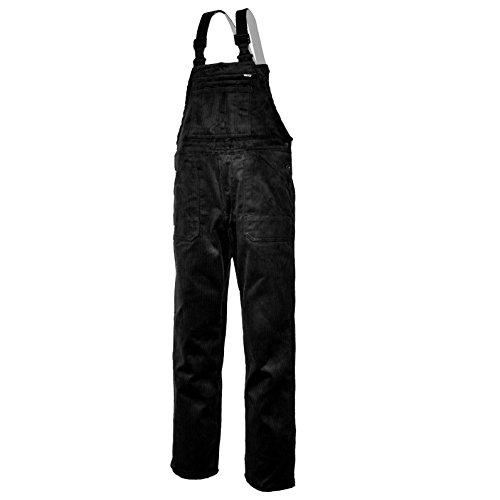 EIKO Arbeits-Latzhose Genua Cord - schwarz - Größe: 44