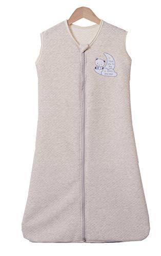 Chilsuessy Babyschlafsack Baby Schlafsack Sommer Schlafanzug Ärmellos Jungen Mädchen Kinder Sommerschlafsack 100% Baumwolle, 1.5 Tog/Gelb, 120/Baby Hoehe 110-130cm