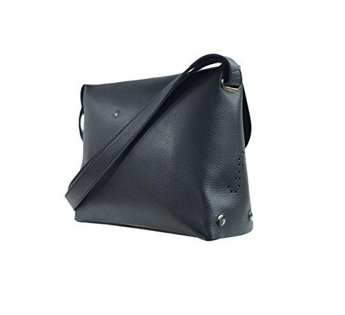 Ffil - Sac à main femme Enveloppe S - turquoise noir