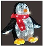 30cm (12 inch) LED Acrylic Standing Penguin Christmas Light (Indoor / Outdoor) - 32 Cool White LED Lights - Mains operated - 5 metre lead - High Quality Premier Lighting Brand, Model: LV152047