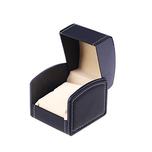 NICERIO Uhr Schmuck Box Organizer, Single Grid PU Leder Geschenk Armband Schmuck Fall Speicherorganisator, 10 * 9 * 8 cm (L * B * H) (schwarz)
