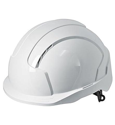 JSP EVOLite Safety Helmet with One Touch Slip Ratchet and 3D Adjustment System, Vented, Short Peak, EN397,