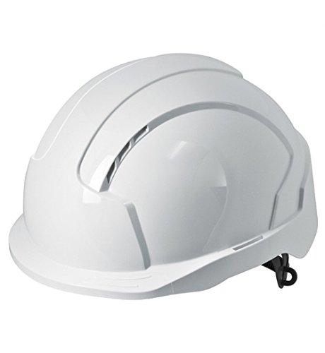 JSP EVOLite Casco di sicurezza con apertura a scatto e sistema di regolazione 3D, traspirante, stondato, EN397, colore: bianco
