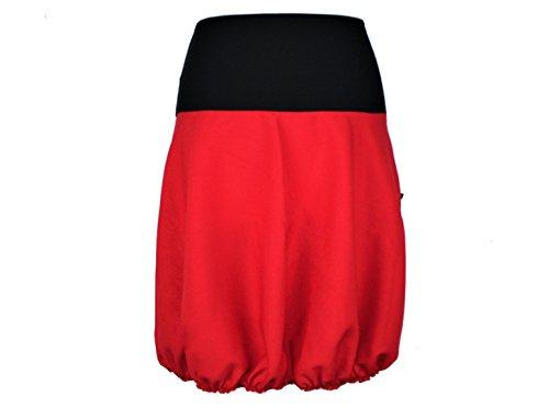 dunkle design Ballonrock Schwarz, Grün, Rot oder Pink nach Wahl Rot