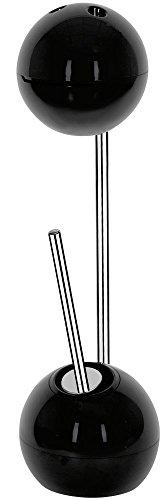 Spirella WC Bürste Rollenhalter Freestyler WC Garnitur 19,5x70cm Schwarz