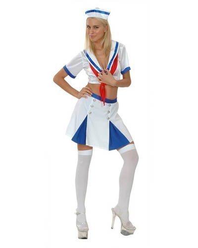Ladies Fancy Dress Costume-Costume da marinaia, Donna, colore: Blu Navy, motivo: Queen, motivo: marinaio