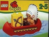 LEGO Duplo 2431 Indianer mit Kanu (Bogen Pfeil Und Lego)