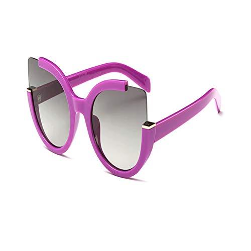 Sportbrillen, Angeln Golfbrille,Cat Eye Sunglasses Women HD Lens Glasses Frame Feminino Fashion Luxury Sun Glasses UV400 For Male Female Purple