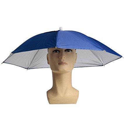 nnenschirm Regenschirm Hut Regenhut Sonnenhut Sport Angeln Camping Mütze Kopfbedeckung Farbe zufällig ()