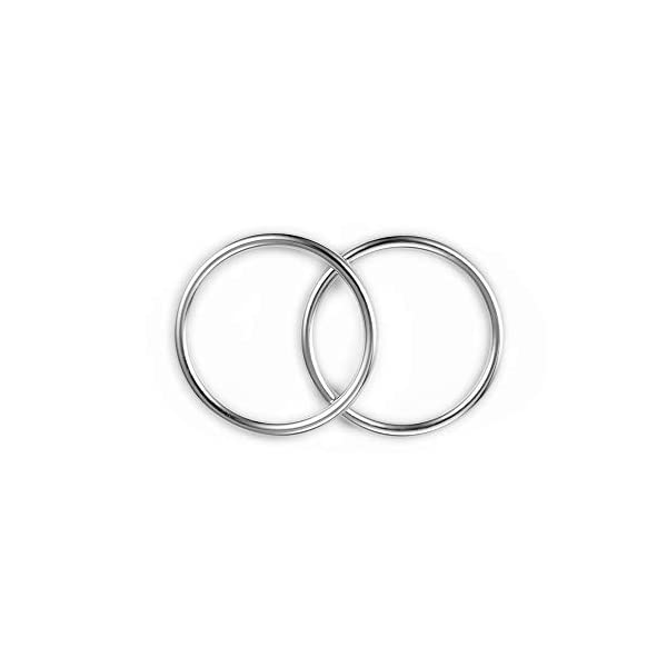 """Topind 3"""" Large Size Alumnium Baby Sling Rings for Baby Carriers & Slings of 2 pcs Bright Silver TOPIND Great replacement aluminium rings for your baby sling rings Get a much more intimate way to touch your baby You can choose the color you like 4"""