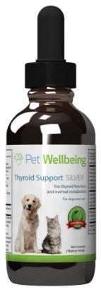 Pet Wellbeing - Schilddrüsen Unterstützung Silber Für Hunde - Natürliche Unterstützung Für Gesundheit der Schilddrüse - 2 Unzen (59 Ml) (Gesundheit Der Schilddrüse)