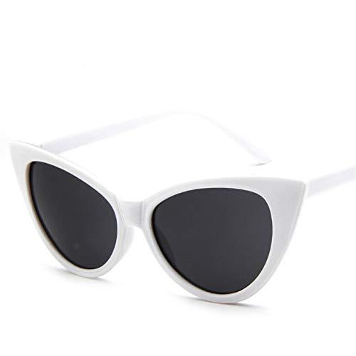 NECCT Mode Cat Eye Sonnenbrillen Vintage Sonnenbrillen weibliche Damen Sunglass,White