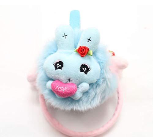 Ohrenschützer/Ohrenschützer/Ohrenwärmer/Ohrenschützer/Ohrenschützer/Ohrenschützer für den Winter, Motiv Kaninchen und Herzen, aus Plüsch, zufällige