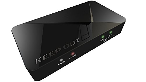 Keep Out Gaming SX300 - HD Streaming Tarjeta de captura de video, Negro