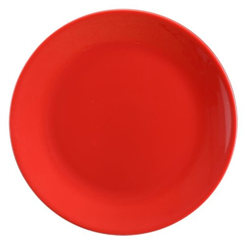 Servewell Urmi Side Plate Set, 18.5cm, Set of 6, Red