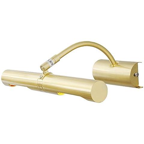 Applique murale spot flexible de style moderne en métal couleur or, lampe pour éclairage de tableau, 2 ampoules incl.G9 2x40W 230V