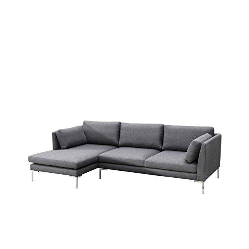 Ecksofa Ocean II Sofagarnitur, Couchgarnitur Lounge Sofa Couch inkl. Kissen-set, Eckcouch Polsterecke (Seite: links, Inari 94)