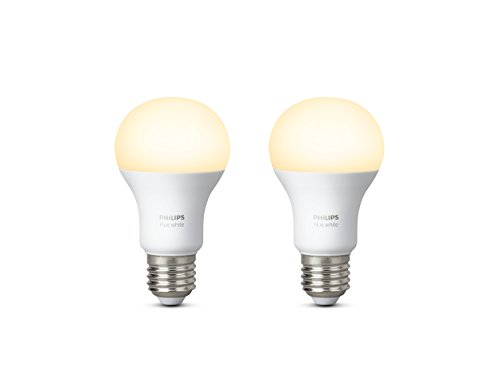 Philips Hue Ampoules Connectées Blanc E27 - Fonctionne avec Amazon Alexa, Apple Homekit et Google Assistant, Lot de 2